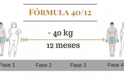 Descubre la Fórmula 40/12:  Cómo adelgazar 40kg en 12 meses