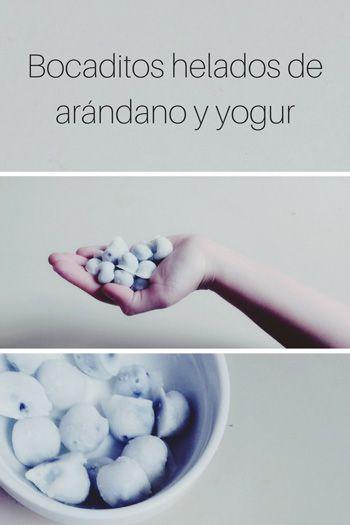 bocaditos de arándano y yogur