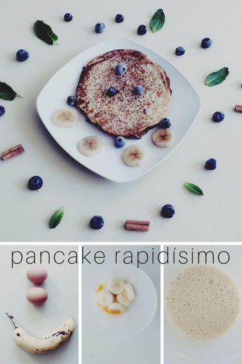 pancake de plátano y huevo