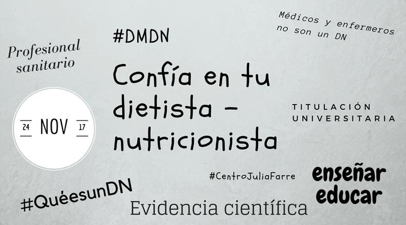 24 de novembre Dia Mundial del Dietista – Nutricionista