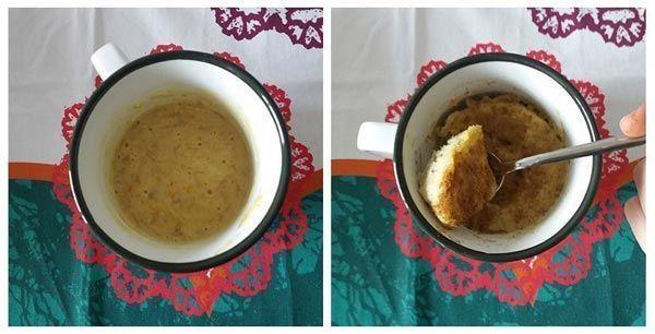 receta de mugcake de plátano saludable para merienda de niños