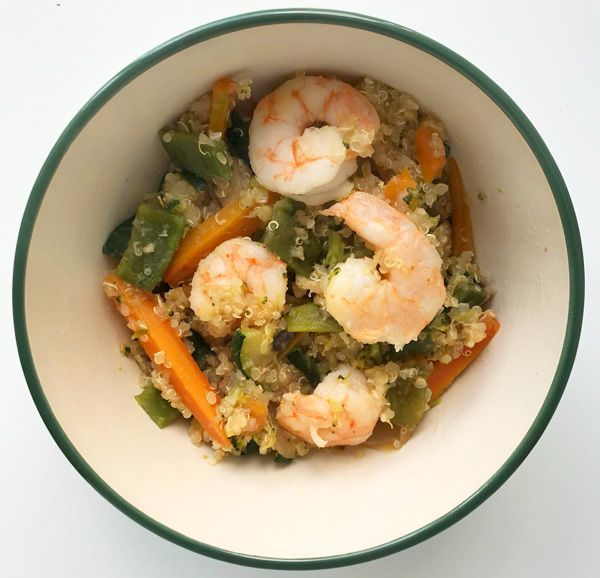 receta metodo del plato quinoa con gambas