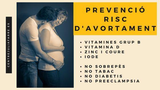 prevenció del risc d'abortament