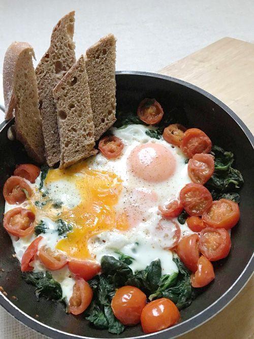 receta de plato de espinacas saludables