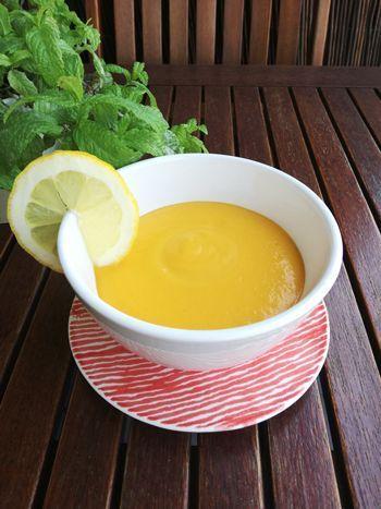 Sopa freda de pastanaga
