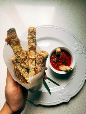 recepta fingers de carbassó