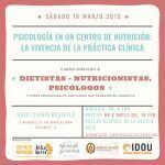 Formación presencial - Psicología en un centro de nutrición: la vivencia de la práctica clínica