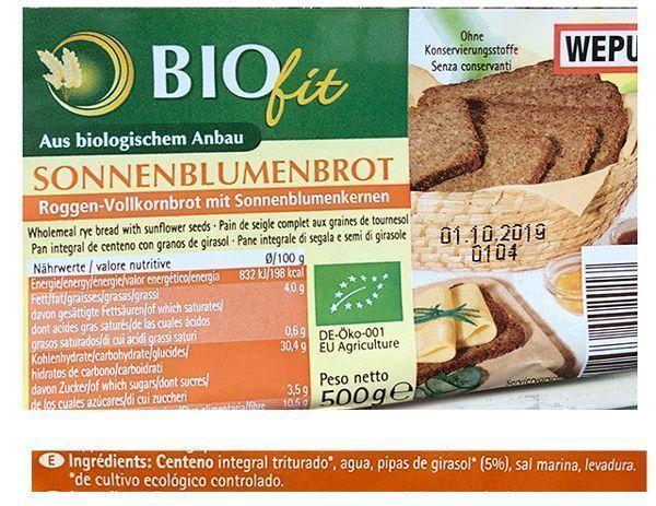 pan alemán envasado biofit