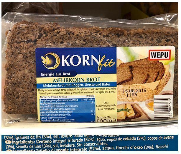 pan alemán con semillas de lino
