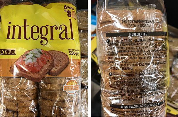 torrades de pa de Mercadona