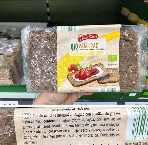 tostadas de pan alemán de centeno