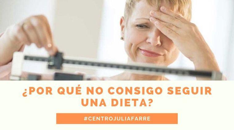 ¿Por qué no consigo seguir una dieta?