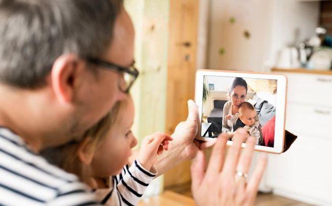 videonferencia con familia y amigos